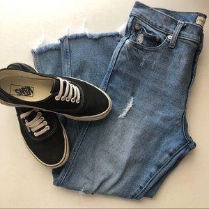 Gap distressed jeans raw hem